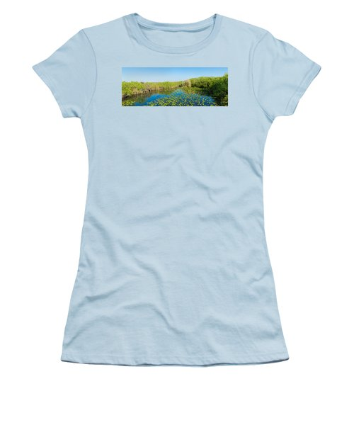 Lily Pads In The Lake, Anhinga Trail Women's T-Shirt (Athletic Fit)