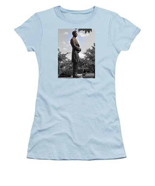 Lincoln At Lytle Park Women's T-Shirt (Junior Cut) by Kathy Barney