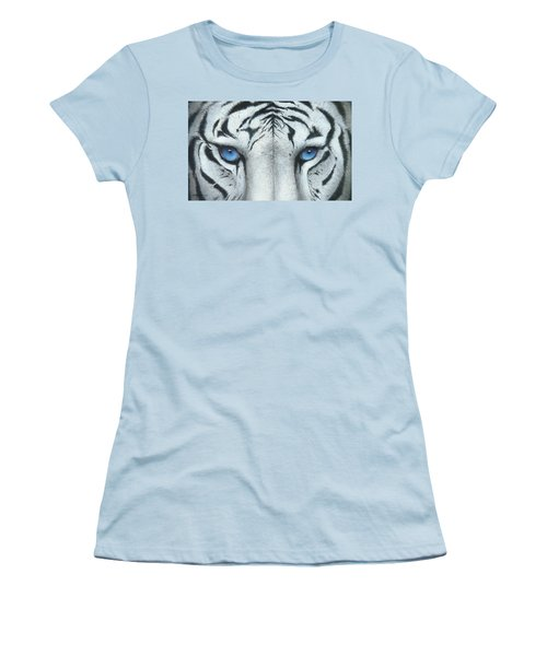 Women's T-Shirt (Junior Cut) featuring the painting Locked In by Mike Brown