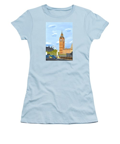 London England Big Ben  Women's T-Shirt (Junior Cut) by Magdalena Frohnsdorff