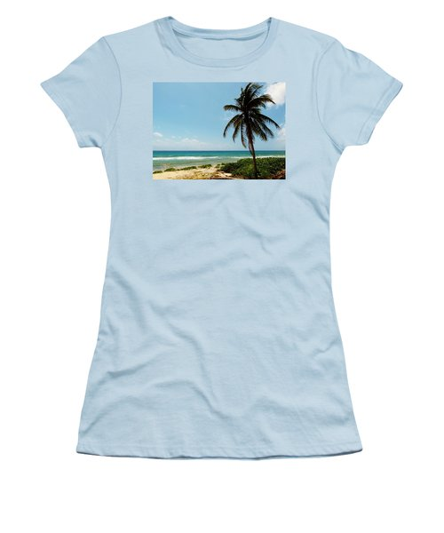 Women's T-Shirt (Junior Cut) featuring the photograph Lone Tree by Amar Sheow