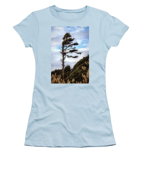 Women's T-Shirt (Junior Cut) featuring the photograph Lone Tree by Melanie Lankford Photography
