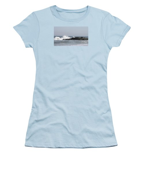Long Beach Jetty Women's T-Shirt (Junior Cut) by John Telfer