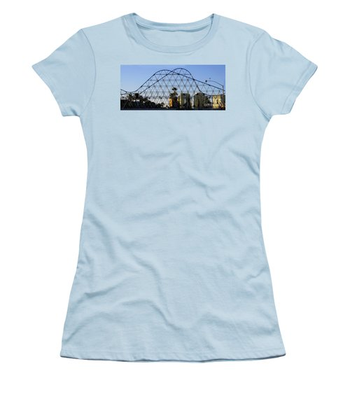 Women's T-Shirt (Athletic Fit) featuring the photograph Long Beach Lines by Clayton Bruster