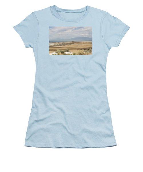 Looking North From Antelope Island Women's T-Shirt (Junior Cut) by Belinda Greb