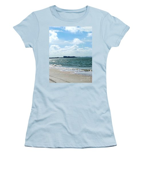 Women's T-Shirt (Junior Cut) featuring the photograph Lovers Key Beach by Oksana Semenchenko