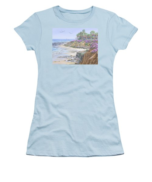 Low Tide Solana Beach Women's T-Shirt (Athletic Fit)