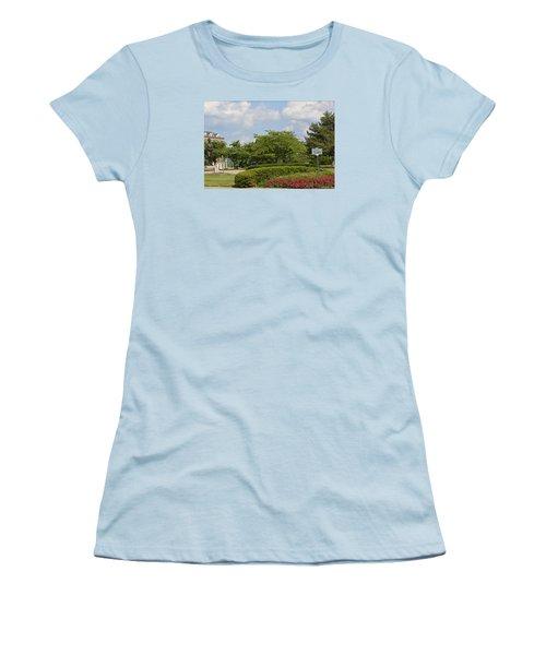 Lytle Park Cincinnati Women's T-Shirt (Junior Cut) by Kathy Barney