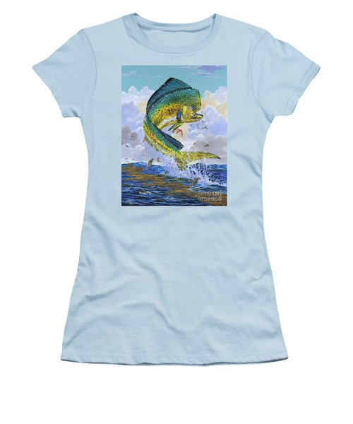 Mahi Hookup Off0020 Women's T-Shirt (Junior Cut) by Carey Chen