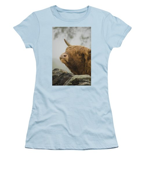 Majestic Highland Cow Women's T-Shirt (Athletic Fit)