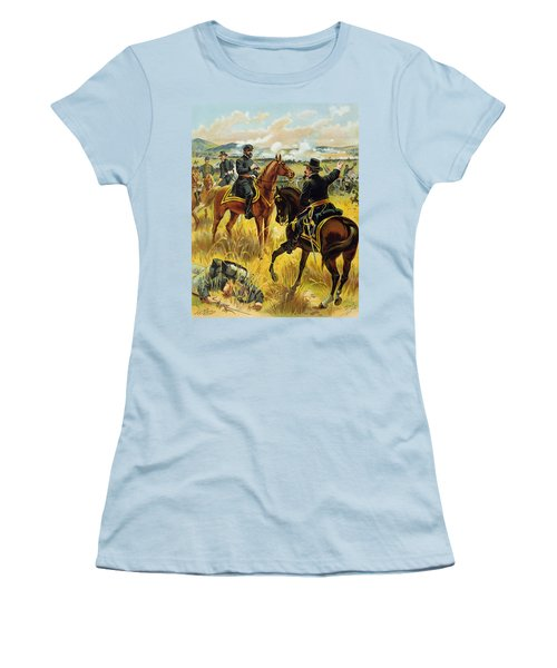Major General George Meade At The Battle Of Gettysburg Women's T-Shirt (Athletic Fit)