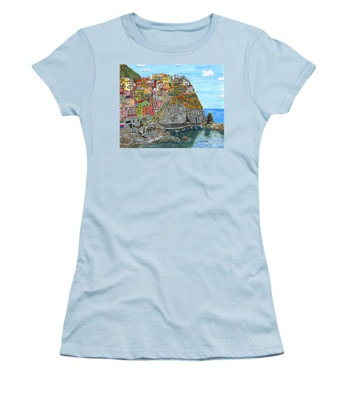 Manarola In Cinque Terra Women's T-Shirt (Athletic Fit)