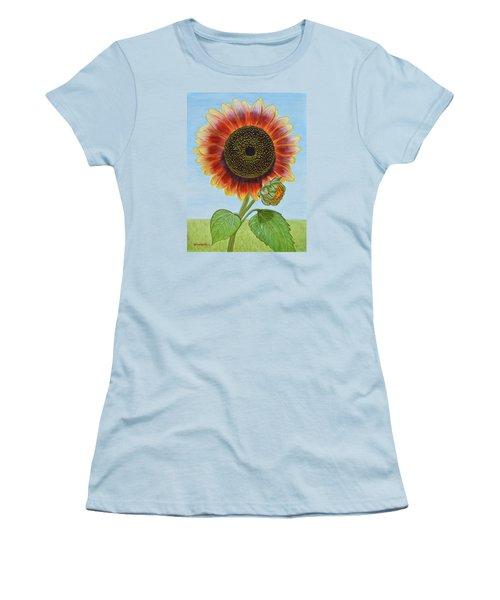 Mandy's Magnificent Sunflower Women's T-Shirt (Athletic Fit)
