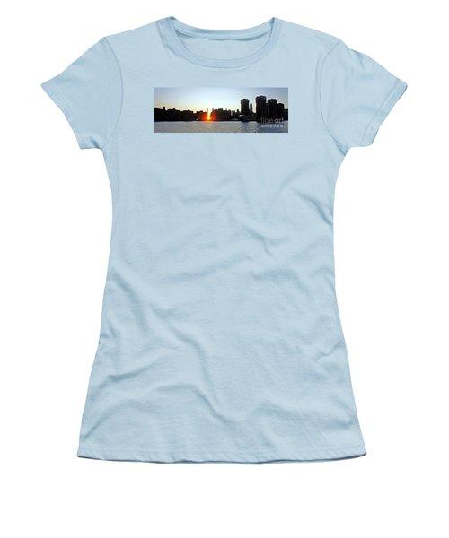 Women's T-Shirt (Junior Cut) featuring the photograph Manhattanhenge 2011 by Lilliana Mendez