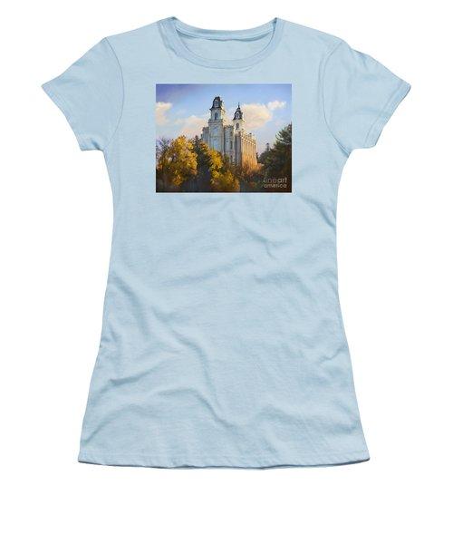 Manti Temple Women's T-Shirt (Athletic Fit)
