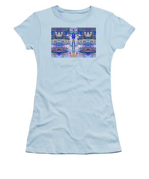 Matrix Blues Women's T-Shirt (Athletic Fit)