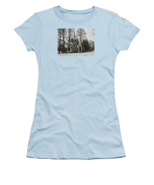 Mausoleum In Winter Women's T-Shirt (Junior Cut) by Kathy Barney