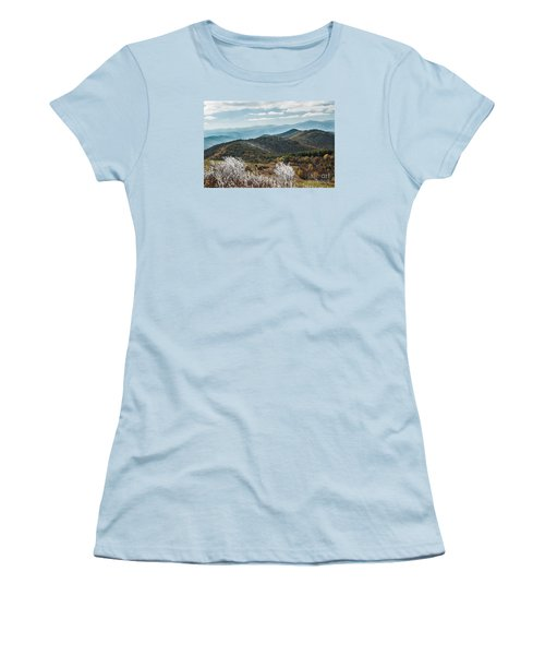 Women's T-Shirt (Junior Cut) featuring the photograph Max Patch In Appalachian Mountains by Debbie Green