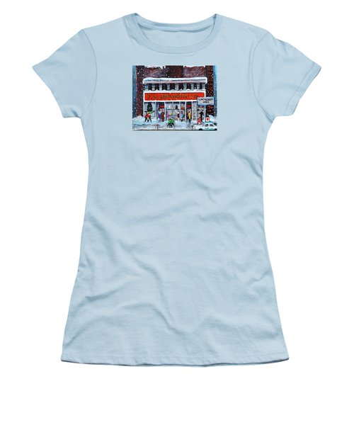 Memories Of Winter At Woolworth's Women's T-Shirt (Junior Cut) by Rita Brown