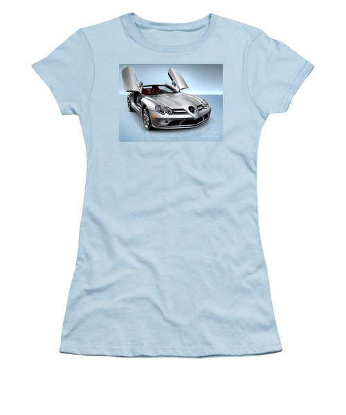 Mercedes Benz Slr Mclaren Women's T-Shirt (Athletic Fit)