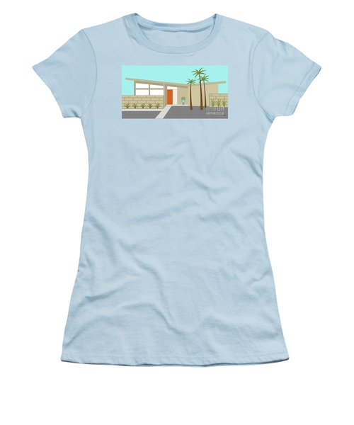 Mid Century Modern House 1 Women's T-Shirt (Athletic Fit)