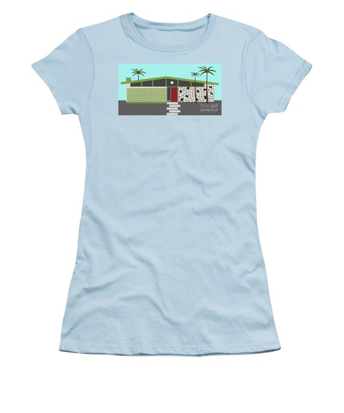 Mid Century Modern House 4 Women's T-Shirt (Athletic Fit)