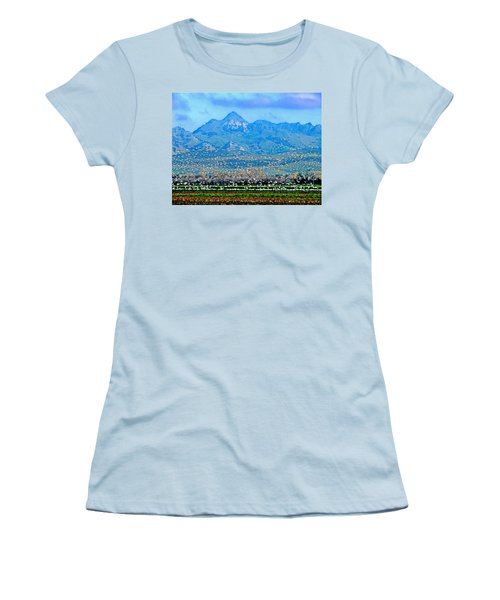 Migrating Birds Over Sutter Wilflife Refuge Women's T-Shirt (Athletic Fit)