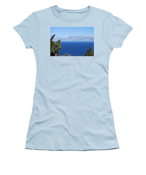 Women's T-Shirt (Junior Cut) featuring the photograph Mistral Wind by George Katechis