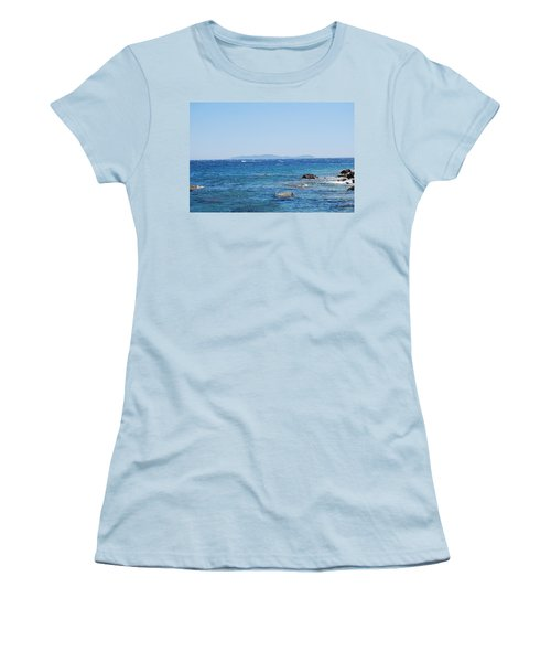 Women's T-Shirt (Junior Cut) featuring the photograph Mistral.force 6 by George Katechis