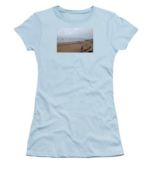 Women's T-Shirt (Junior Cut) featuring the photograph Misty Harbor by David Jackson