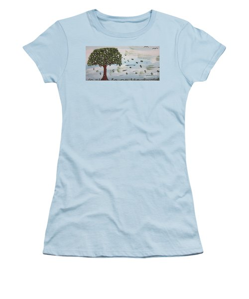 Women's T-Shirt (Junior Cut) featuring the painting  The Money Tree by Jeffrey Koss