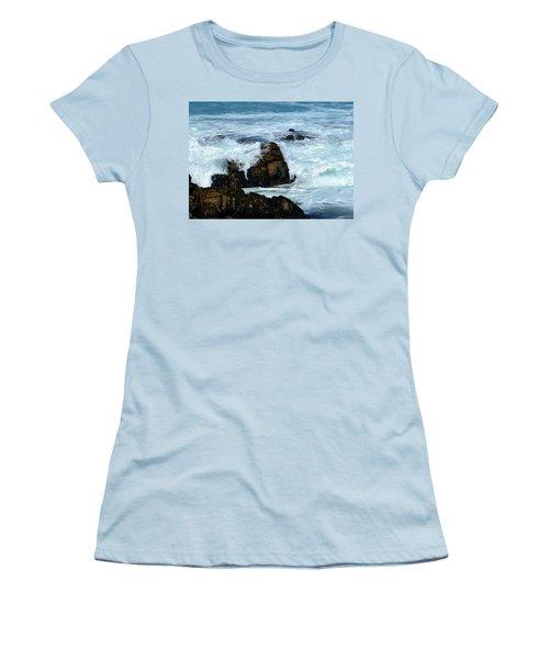 Women's T-Shirt (Junior Cut) featuring the photograph Monterey-2 by Dean Ferreira