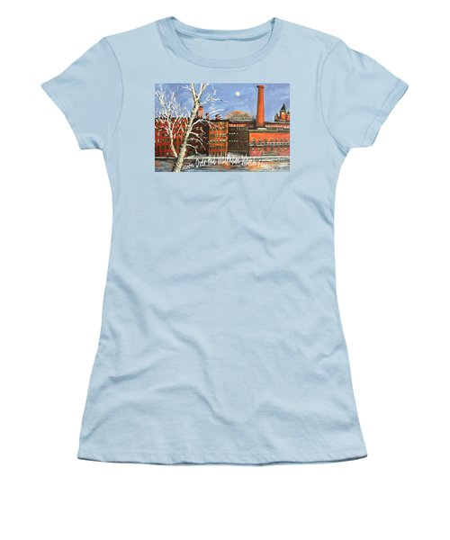 Moon Over Waltham Watch Women's T-Shirt (Junior Cut) by Rita Brown