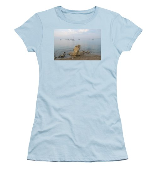 Women's T-Shirt (Junior Cut) featuring the photograph Morning Mist 2 by George Katechis