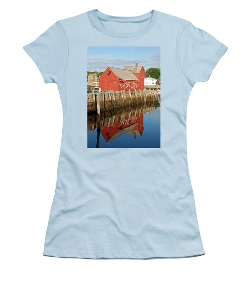 Women's T-Shirt (Junior Cut) featuring the photograph Motif 1 With Reflection by Richard Bryce and Family