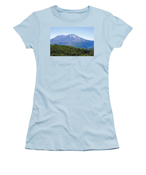 Mount St. Helens And Castle Lake In August Women's T-Shirt (Junior Cut) by Connie Fox