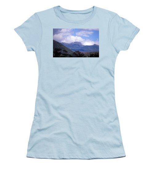 Mount Washington Women's T-Shirt (Junior Cut) by Skip Willits