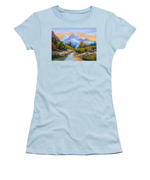 Mountain Stream Women's T-Shirt (Athletic Fit)