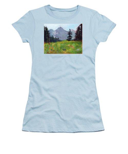 Mountain View Women's T-Shirt (Junior Cut) by C Sitton