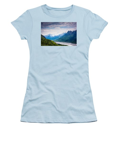 Mountains Along Seward Highway Women's T-Shirt (Athletic Fit)