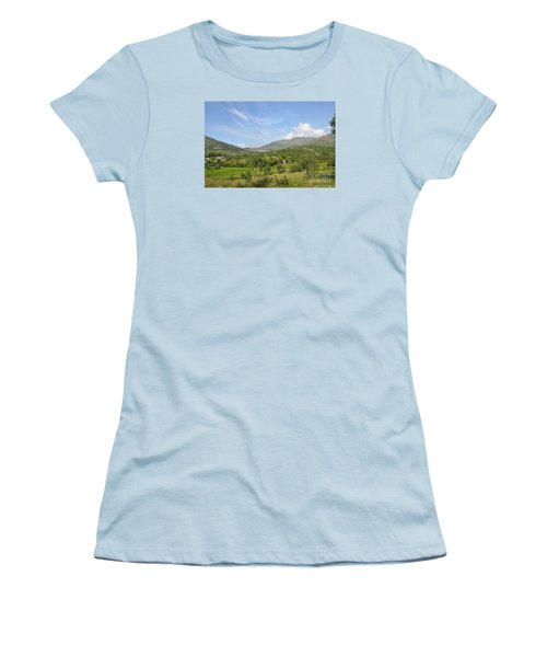 Women's T-Shirt (Junior Cut) featuring the photograph Mountains Sky And Clouds Swat Valley Pakistan by Imran Ahmed