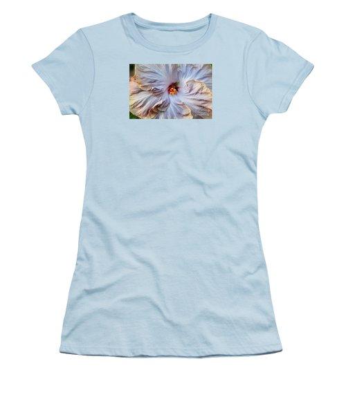 Muted Hibiscus Women's T-Shirt (Junior Cut) by Cindy Manero