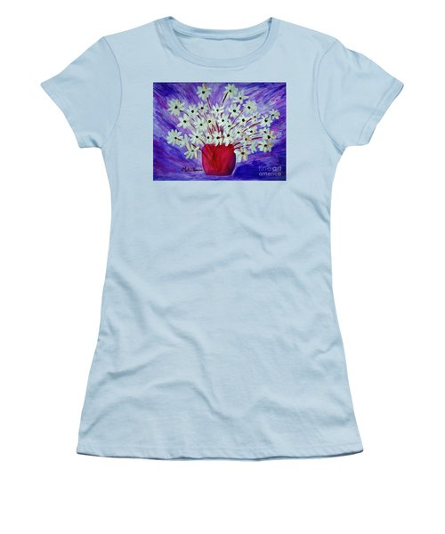 My Daisies Blue Version Women's T-Shirt (Junior Cut) by Ramona Matei
