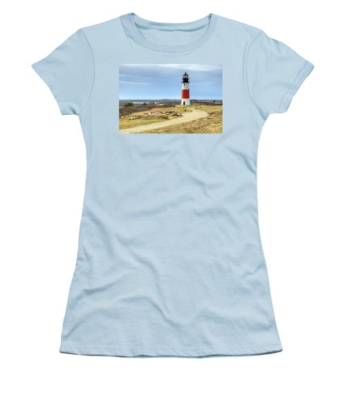 Nantucket's Sankaty Head Light Women's T-Shirt (Athletic Fit)