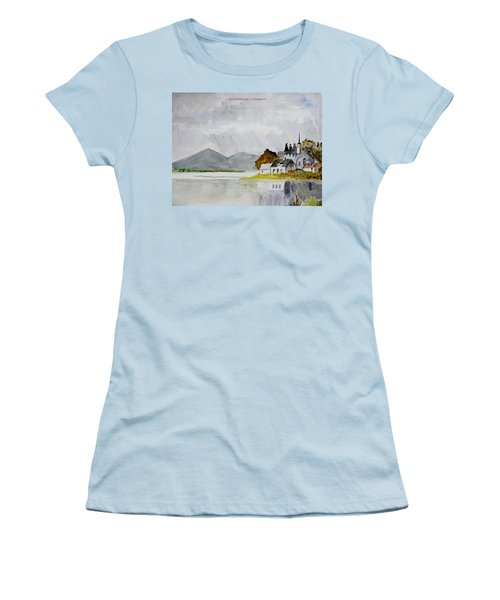 Nature's Painting Women's T-Shirt (Athletic Fit)