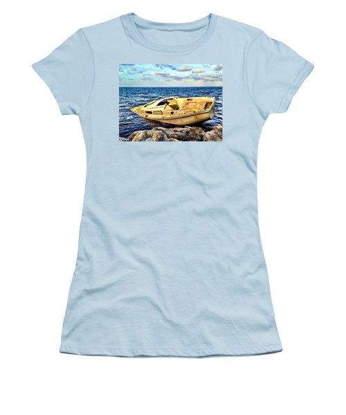 Naufragio  Women's T-Shirt (Junior Cut) by Carlos Avila