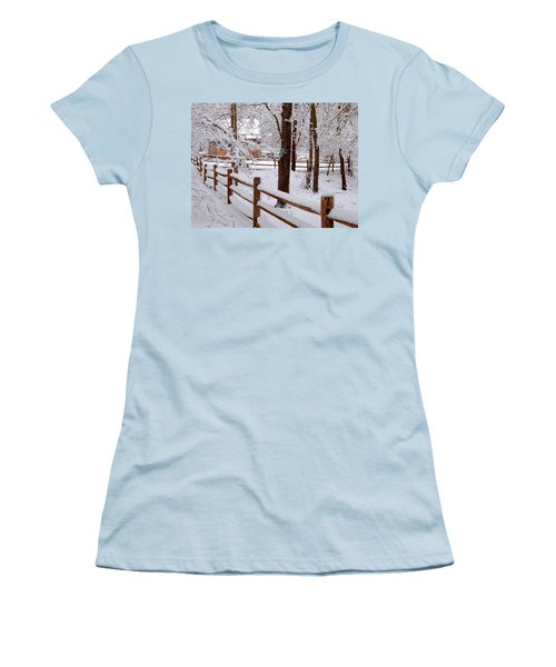 New England Winter Women's T-Shirt (Athletic Fit)