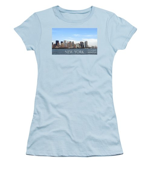 Women's T-Shirt (Athletic Fit) featuring the photograph New York As I Saw It In 2008 by Ausra Huntington nee Paulauskaite