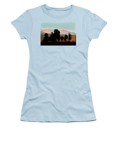 Women's T-Shirt (Junior Cut) featuring the photograph New Zealand Silhouette by Amanda Stadther