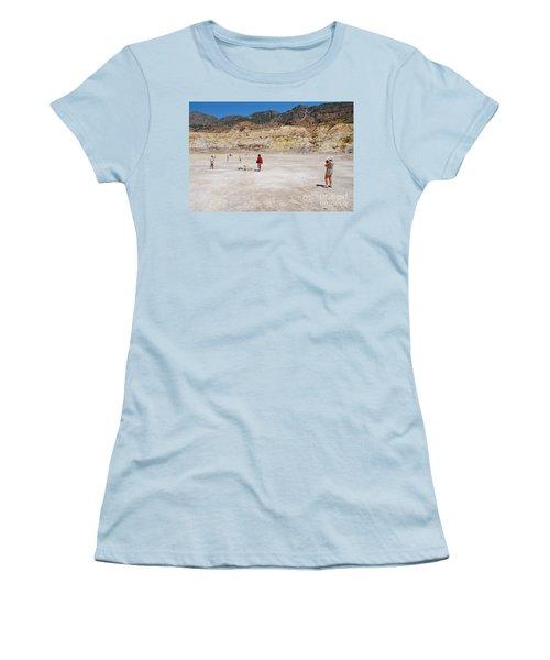 Nisyros Volcano Greece Women's T-Shirt (Athletic Fit)